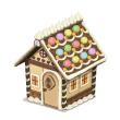 カラフル屋根のお菓子の家