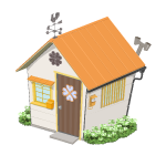 幸せを呼ぶクローバーの家【橙】