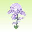 銀幕の椿【青紫】
