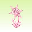 雪の結晶花 【ダイアモンドピンク】
