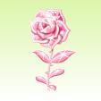 ガラスの薔薇【クリアピンク】
