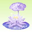 氷の蓮【薄紫】