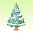 クリスマスツリー【青】