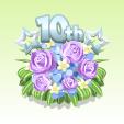 10周年フラワー【パープル】
